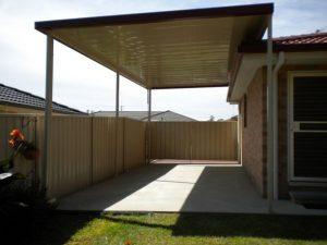 caravan shelter, carport, flyover roof, single skin roofing