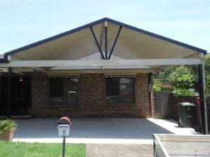 carport, pitched roof, gable, double carport