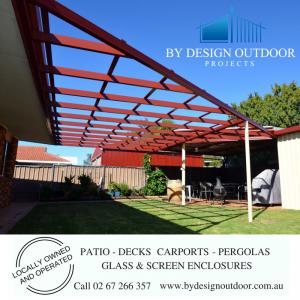 Pergola Tamworth, outdoor area pergola, By Design Outdoor Projects Pergola